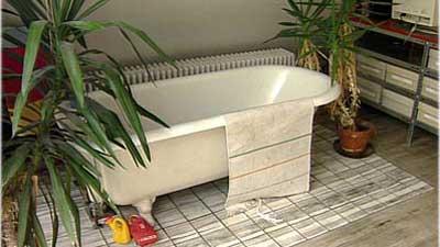 Die Badewanne Im Arbeitszimmer