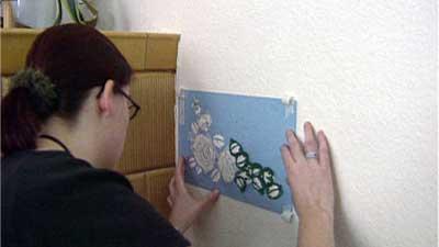 Schablonieren - An der Wand