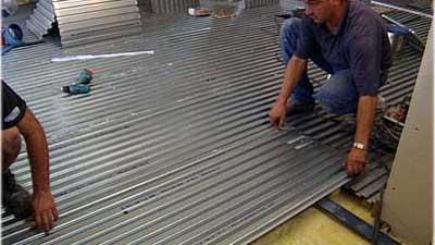 Fußbodenplatte