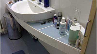 Kleines Badezimmer Mit Runden Formen