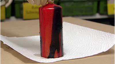 Kerzen Marmorieren